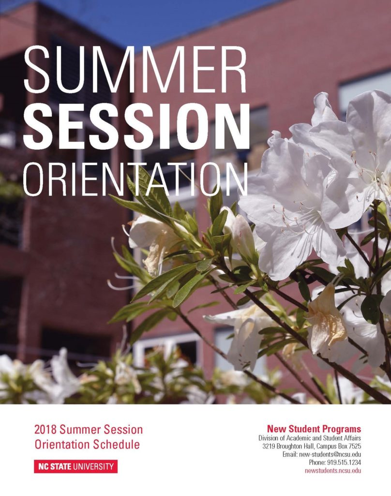 2018 Summer Session Orientation Cover Image