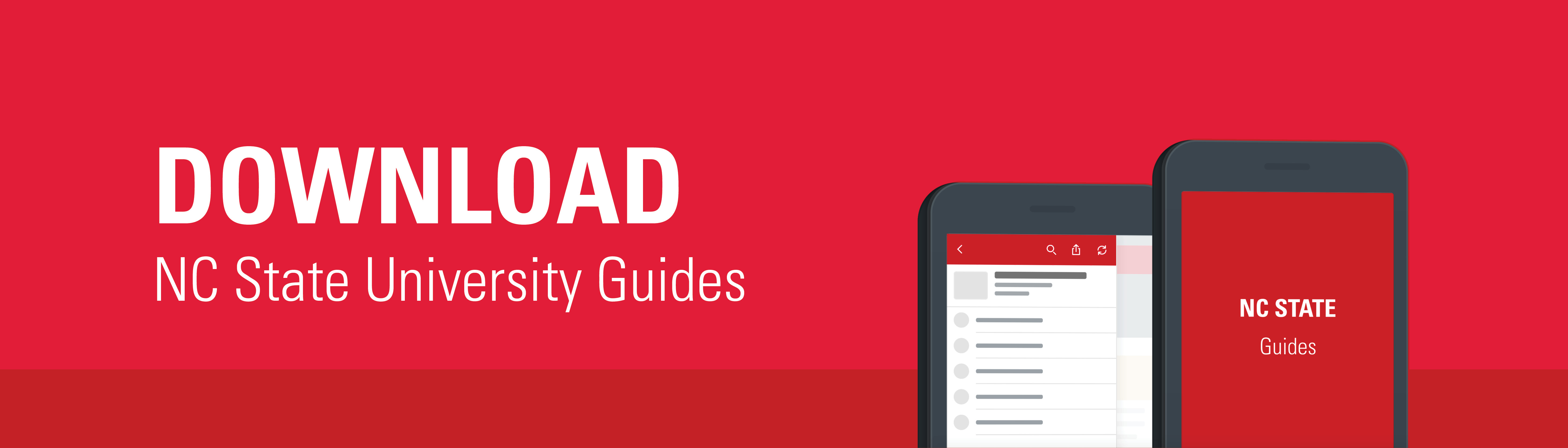 Download NC State Guides App Banner