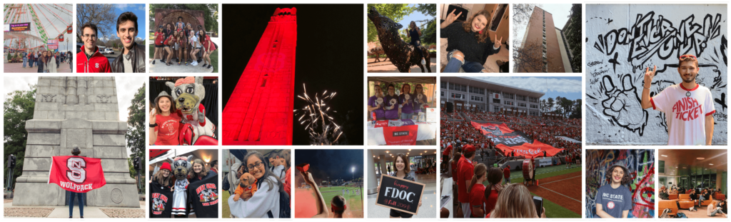 Composite of various I Am NC State 24 Instagram Posts